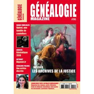 Abonnement généalogie Magazine 1 an - France métropolitaine - prix préférentiel 1er abonnement ou réabonnement 3 mois d'avance