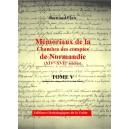 Mémoriaux de la chambre des comptes de Normandie XIV°-XVII° siècles Tome 5