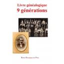 Livre généalogique 9 générations